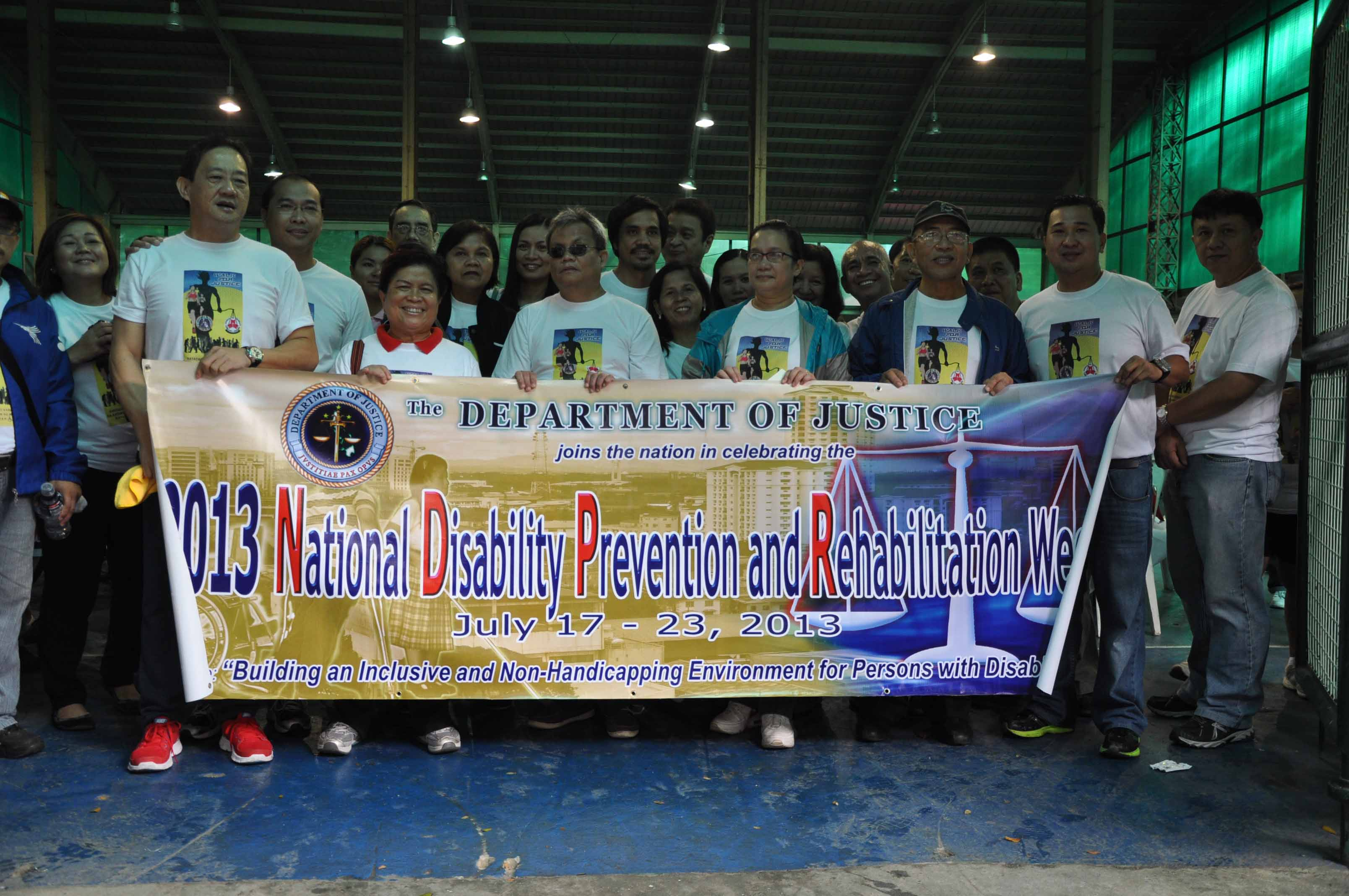 Sec. Corazon Juliano Soliman supported the celebration of the 35th NDPR Week which was chaired by DOJ Sec. Leila de Lima.