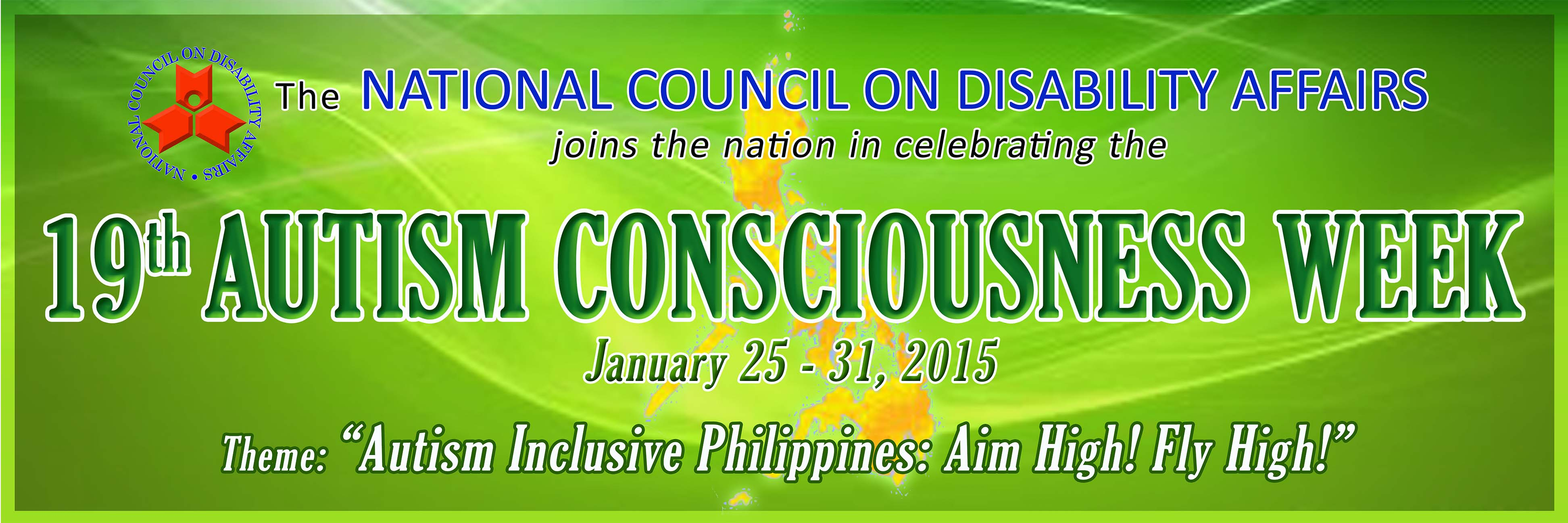 Banner for the 19th Autism National Consciousness Week