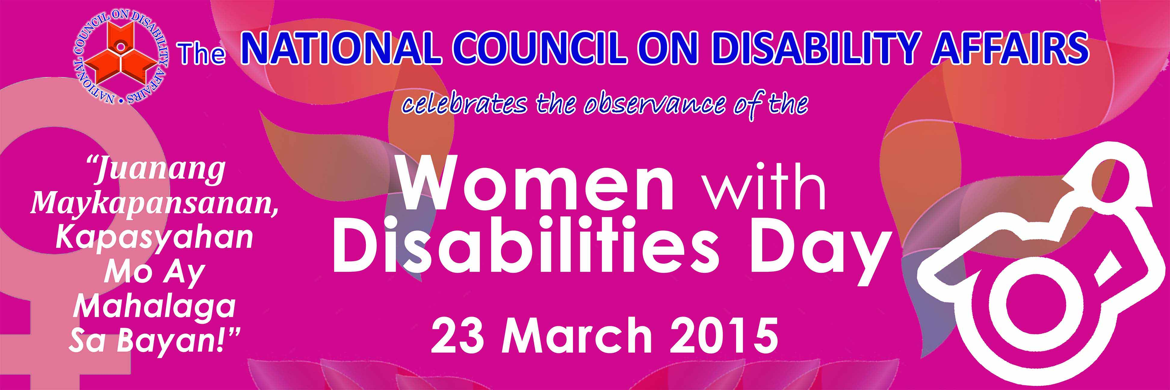 2015 Women With Disabilities
