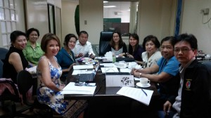 "NCDA Executive Director Carmen Zubiaga meets with the officials of the Rotary Club of San Juan del Monte and Touch the Artist's Vision headed by Ms,Annette Lee Esparaz  and representatives from the Manila International Airport Authority, Civil Aeronautics Board  and Resources for the Blind to discuss details of the project ""Beyond Way Finding""."