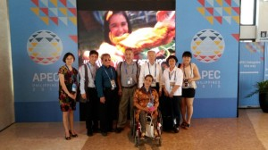 The delegates from the Disability Sector of China, with Director General of CDPF, Wei Mengxin and the Philippines, with Executive Director Carmen Reyes Zubiaga of NCDA after the Preparatory Meeting with other members of the Group of Friends on Disability which was introduced during the APEC Leaders' Week Meeting in 2014 held in Beijing.