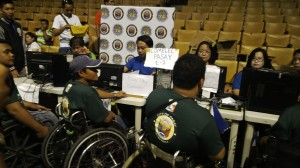 PWD-residents of Pasay City avail of the voter's validation of the COMELEC during the Freedom Walk.