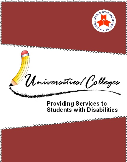 Universities and Colleges - Providing Services to Students with Disabilities