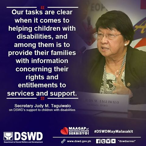 Secretary Taguiwalo's statement on the rights of children with disabilities and their families