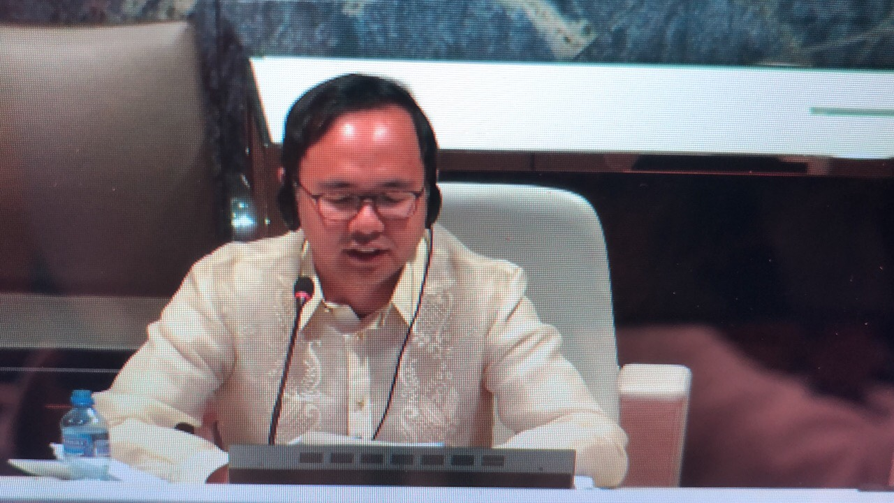 Deputy Executive Secretary Michael Ong delivering the closing statement