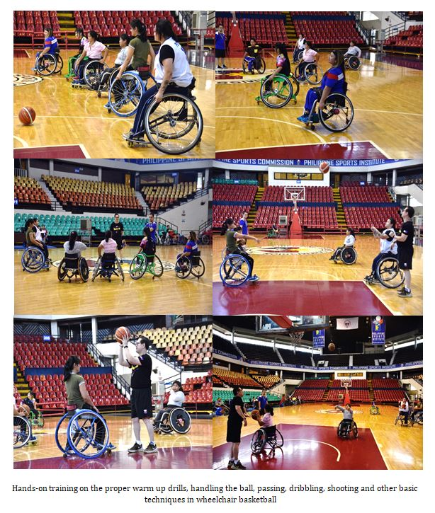 Hands-on training on the proper warm up drills, handling the ball, passing, dribbling, shooting and other basic techniques in wheelchair basketball
