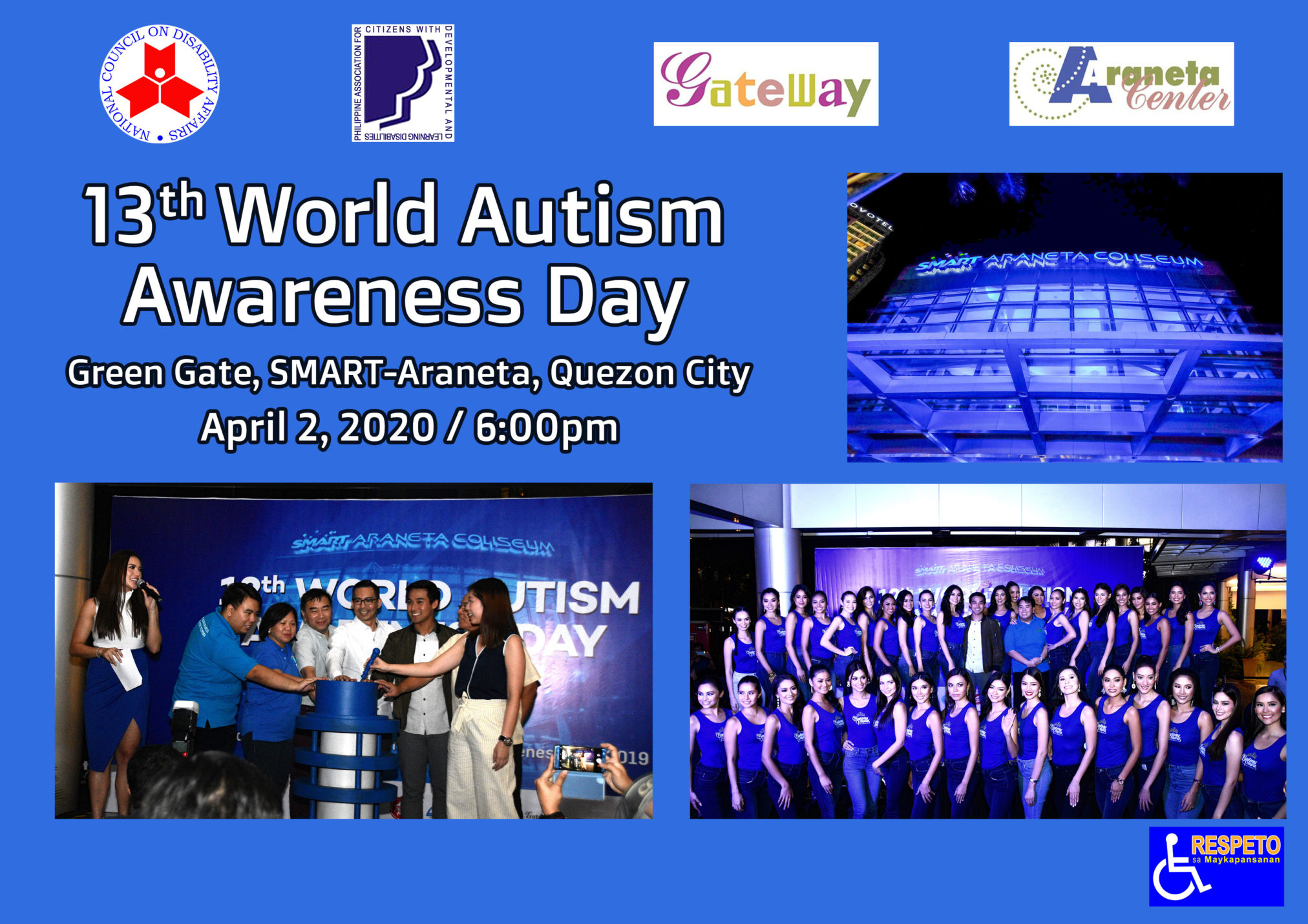 13th World Autism Day April 2, 2020 4pm -6pm