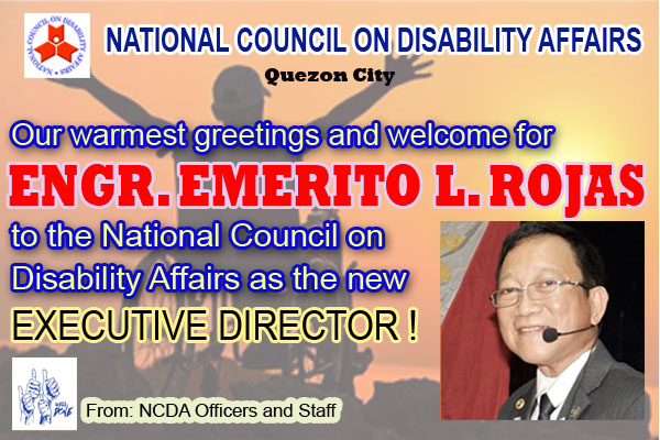 Engr. Emerito L. Roxas is the new NCDA Executive Director
