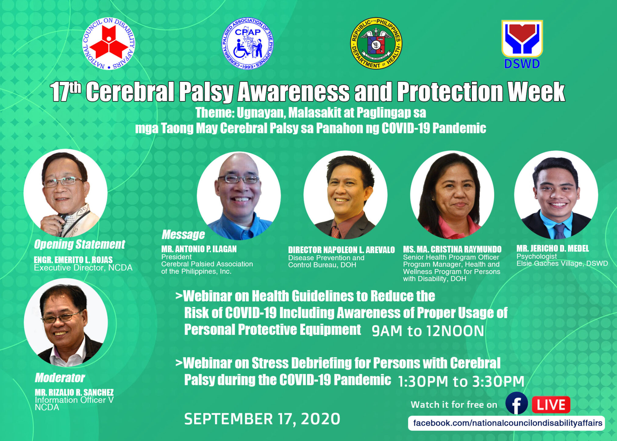 Webinar on Health Guidelines to Reduce the Risk of Covid-19 Including Awareness Usage of Personal Protective Equipment