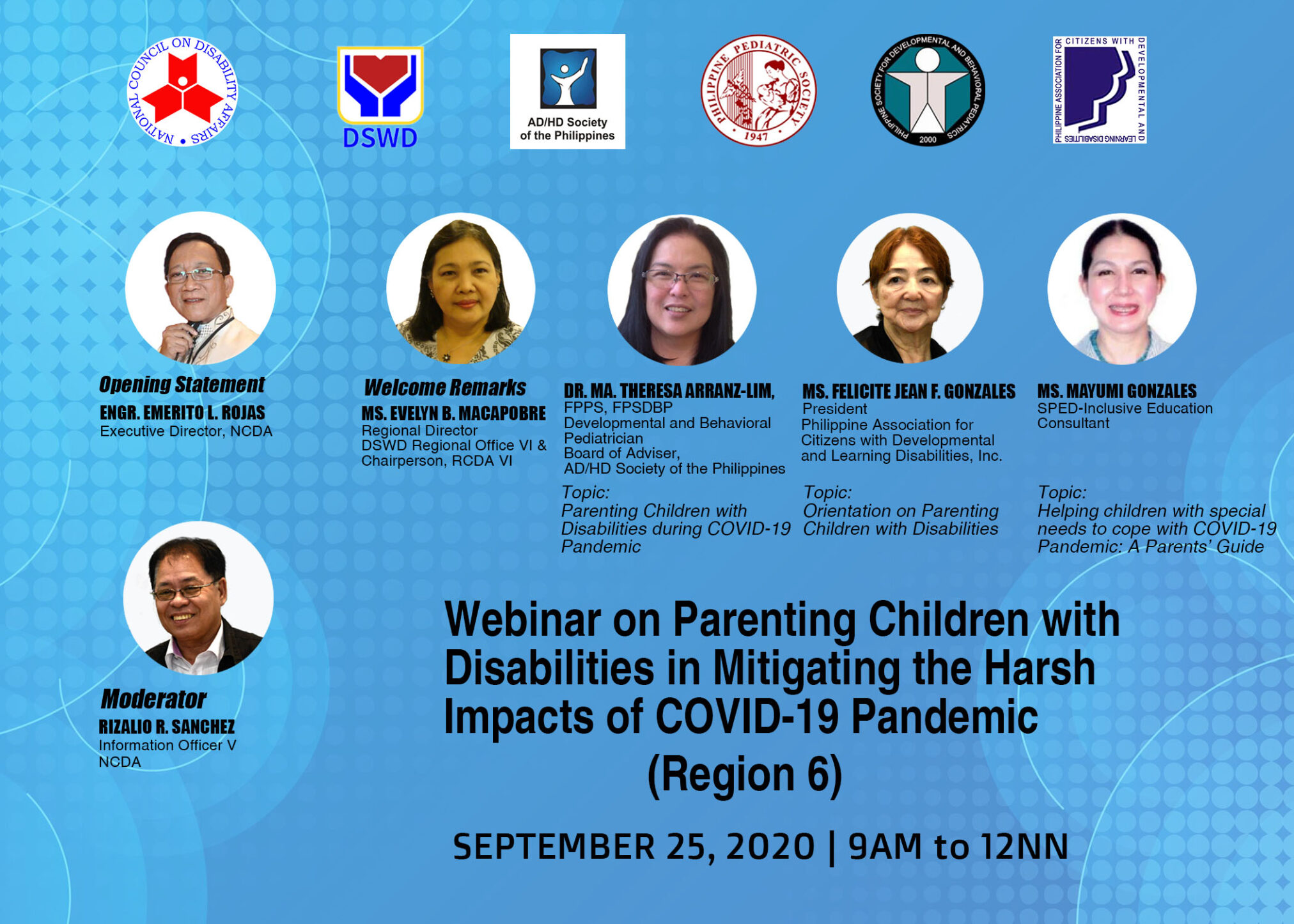 Webinar on Parenting Children with Disabilities in Mitigating the Harsh Impacts of COVID-19 Pandemic (Region 6)