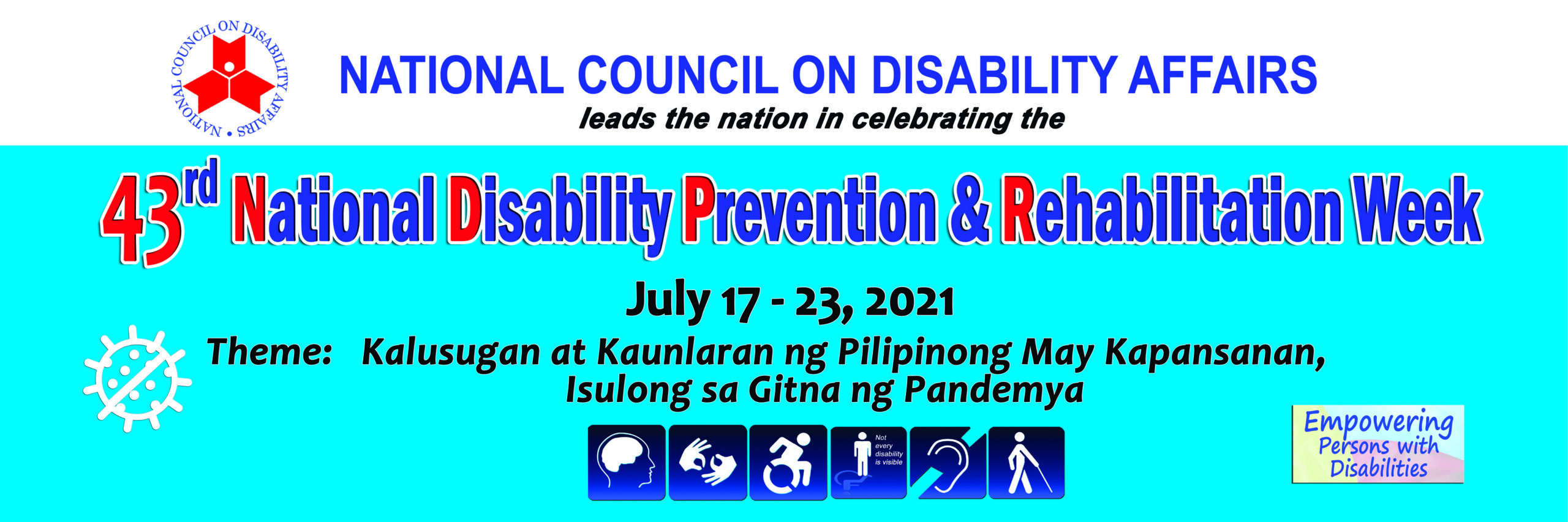 43rd National Disability Prevention and Rehabilitation Week