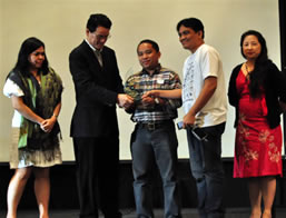 From Left: Ms. Meikah Ybañez-Delid, Mr. Edward Ling, NCDA TCD Asst. Chief Dandy Victa, MCCID Director Jojo Esposa Jr. and Philippine E-commerce Book author  Janette Toral