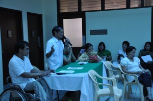 PWD leader makes presentation of best practices