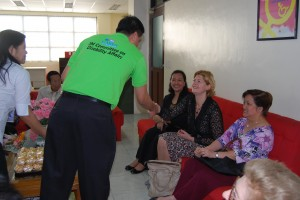 Engineer Bien C. Mateo shakes hand with Ms. Joke