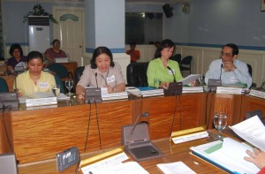 Atty. Eleanor Racher Martil-Angeles (2nd from left) of NBI reports on the recommendations of the Bureau during the NCDA Board Meeting. .