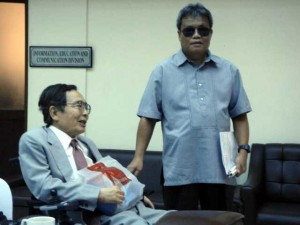 OIC Lee welcomes Mr. Nakanishi to NCDA and briefs him on NCDA's UN-CRPD initiatives and common concerns.
