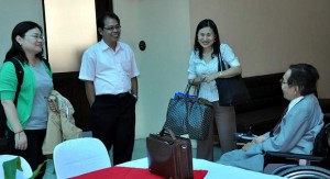 Ms.Suju Kwon, NCDA IECD Chief Zaldy Sanchez and Ms. Naoko Ito compare notes with Mr. Shoji.