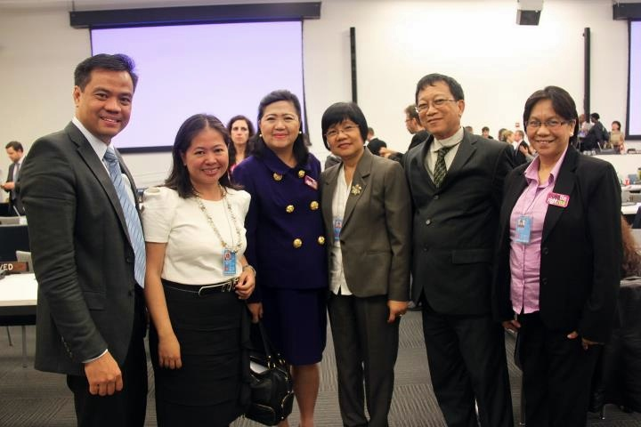 Left to right: SMS VP Bien C. Mateo, Ms. Annie Hernando, Foreign Service Officer, Philippine Mission to the UN, SMS President Annie Garcia, NVAP President Emer Rojas and NCDA Regional Programs Coordinator Ms. Flerida Labanon.