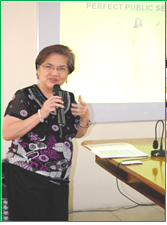 The Resource Speaker -  Ms. Kapunan