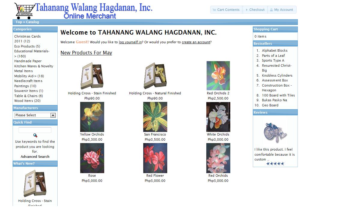 Tahanang Walang Hagdan Inc. Online Merchant