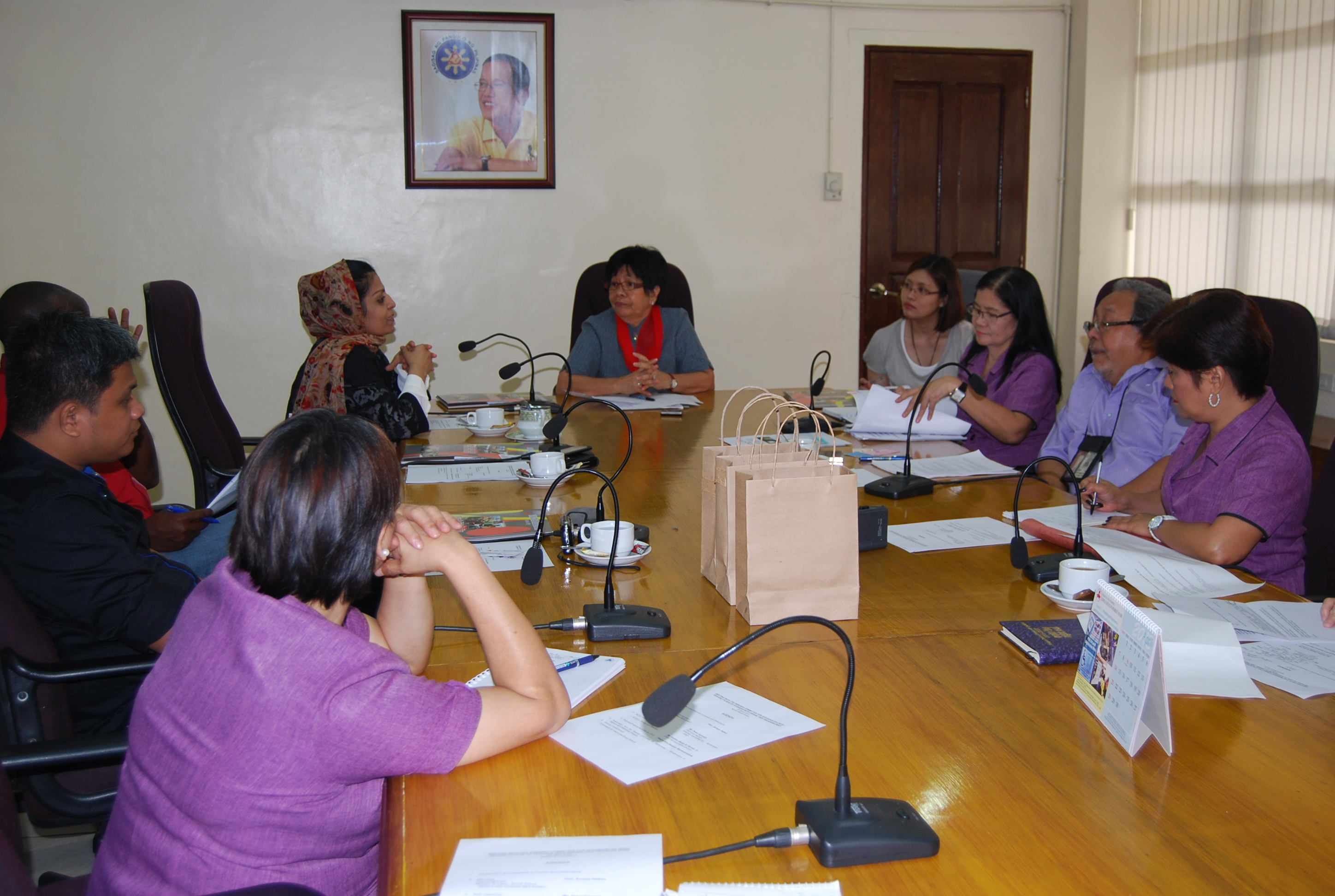 MOLSAMD officials sharing their experiences with Usec Taradji and NCDA officers