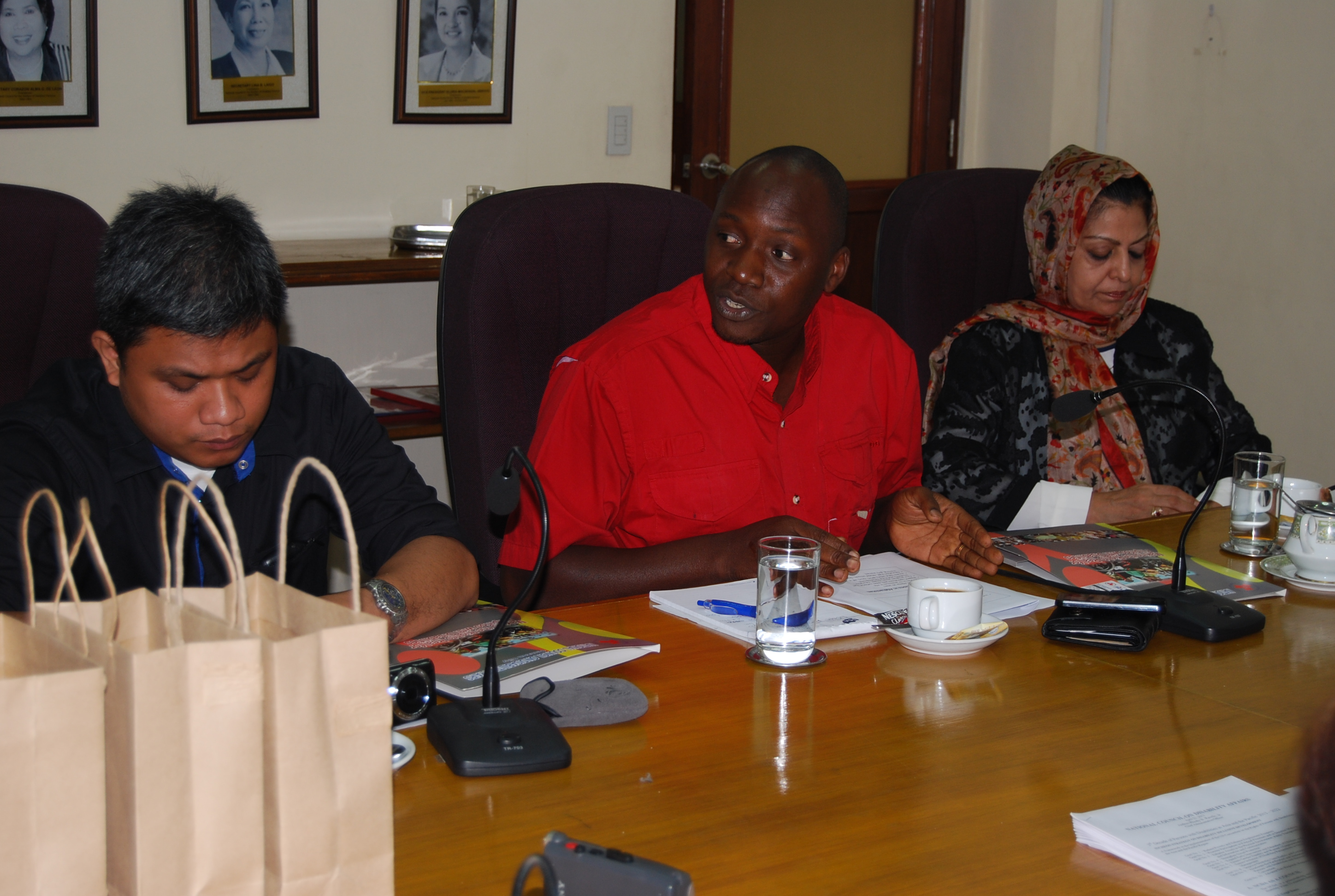 MOLSAMD officials listening intently to Usec Taradji