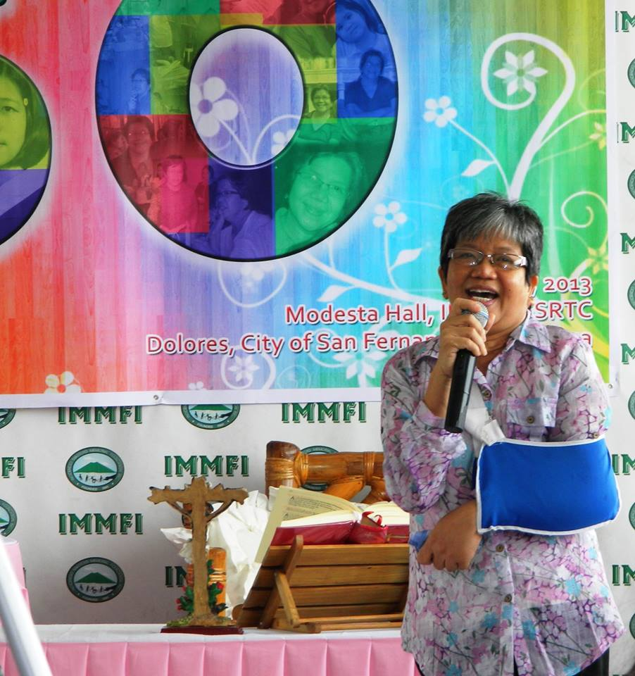 "Above, Tonette as well loved, respected, and certified supporter of any move, to ""MAKE THE RIGHT REAL'' for PWDs.  Photos by Ms. Tess dela Cruz"
