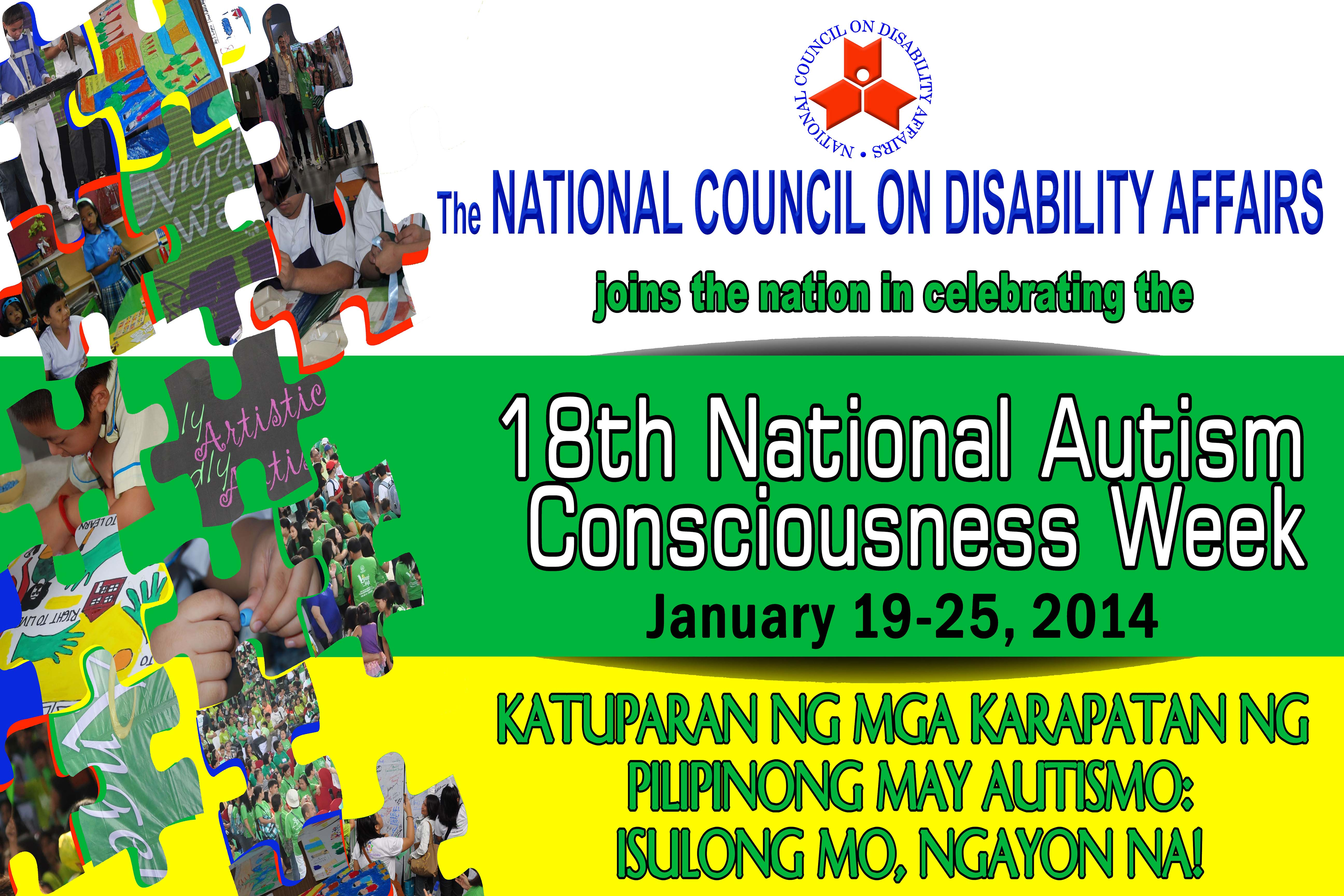 Banner for the 18th Autism National Consciousness Week