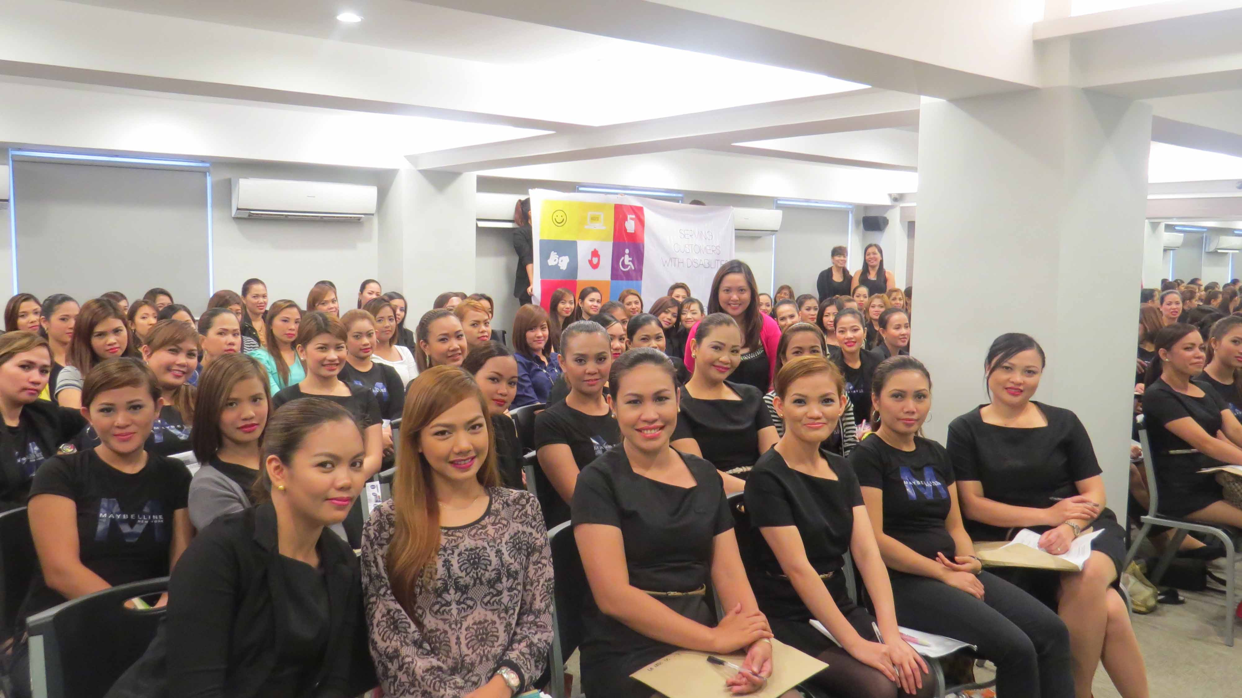 A total of 108 Beauty Advisers were trained by  L'Oreal on how to serve customers with disability last May 28, 2014