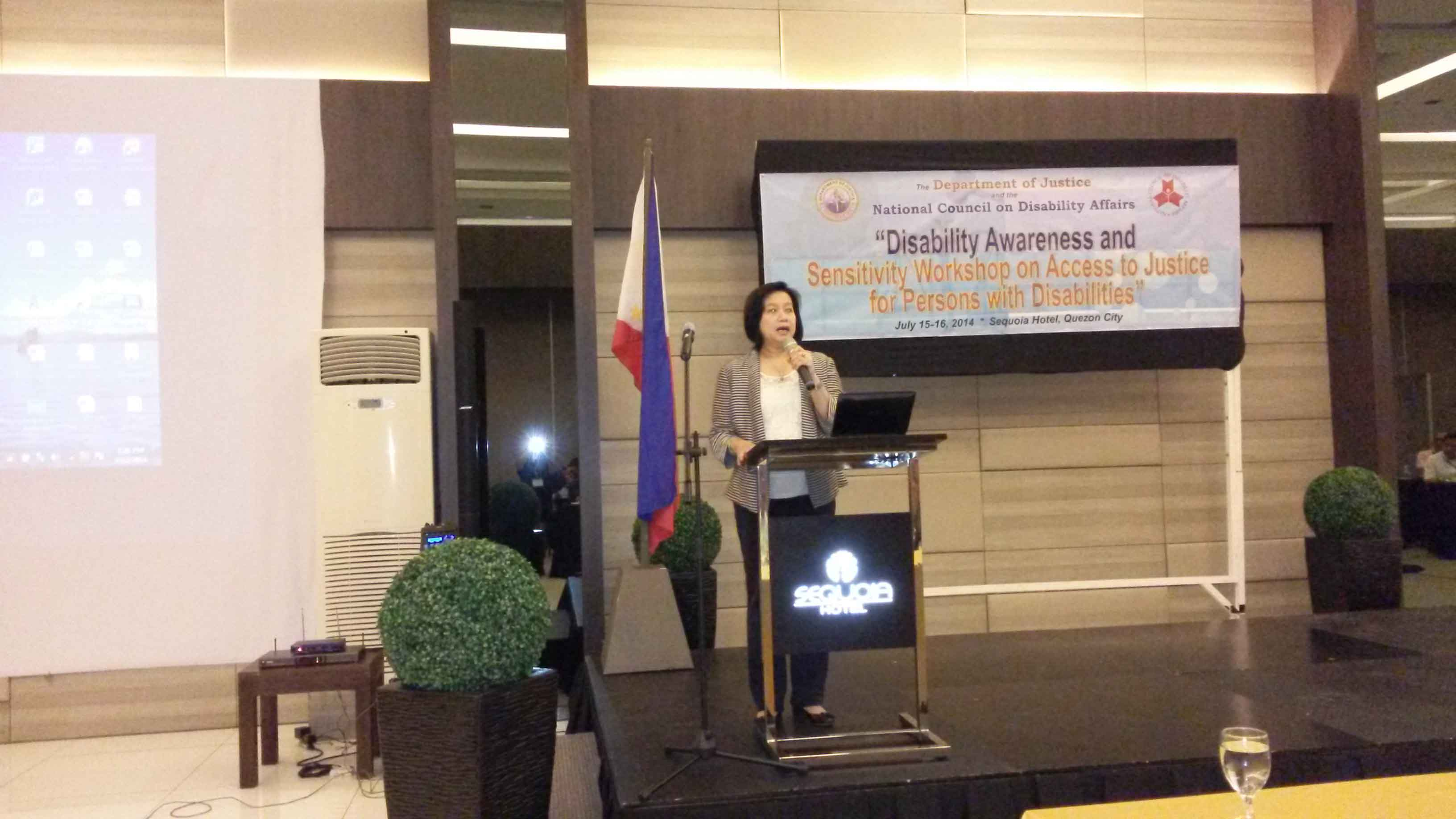 Atty. Tanodra-Armamento delivering her opening remarks
