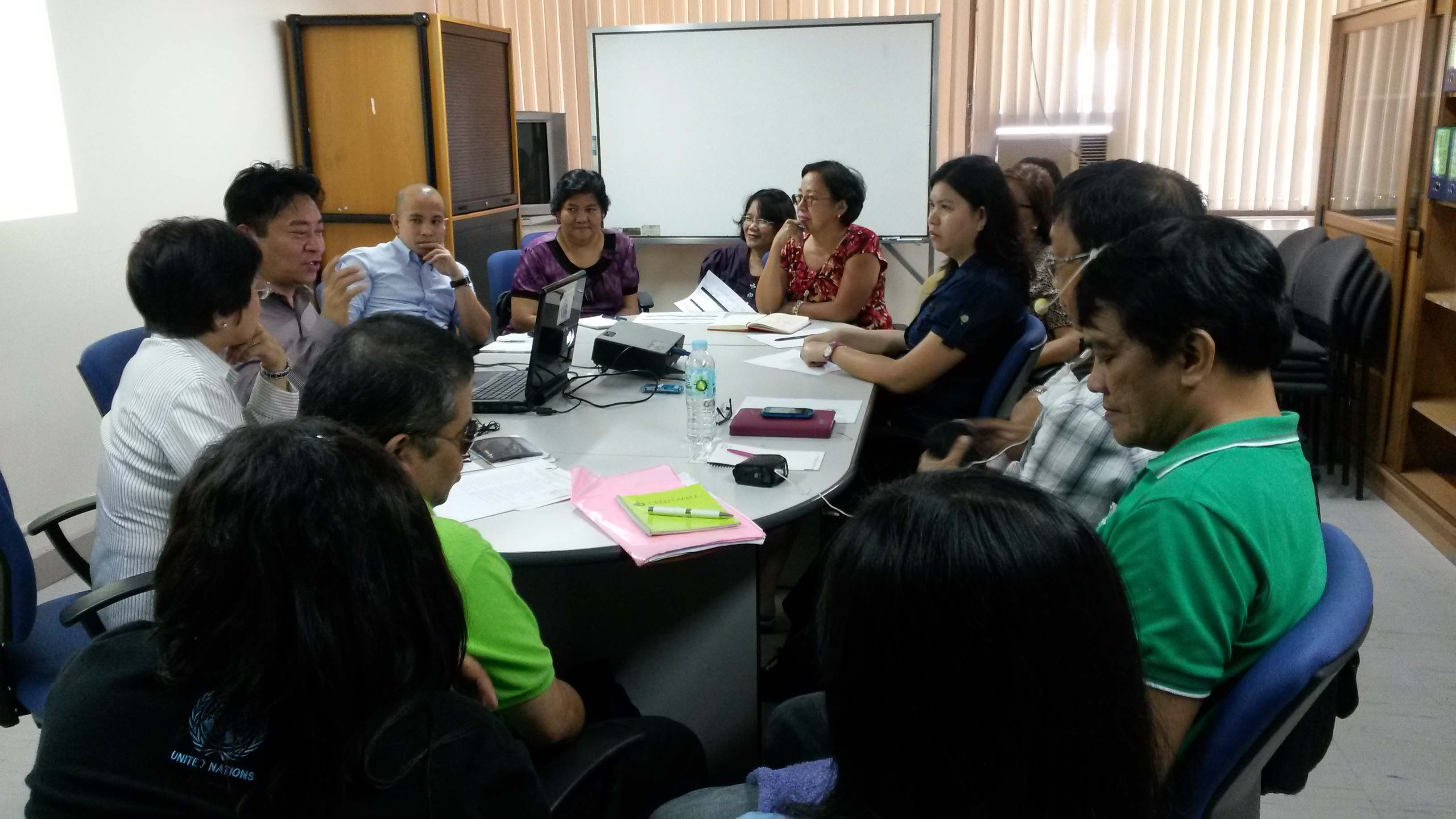 CHARLTON BROWN® Coordinator  and  International Manager Mr. Rizaldy Mutuc,  in the above photo, gives RP interagency team a pre-departure briefing  hosted by  the lead agency TESDA, last August 19 and 20, 2014
